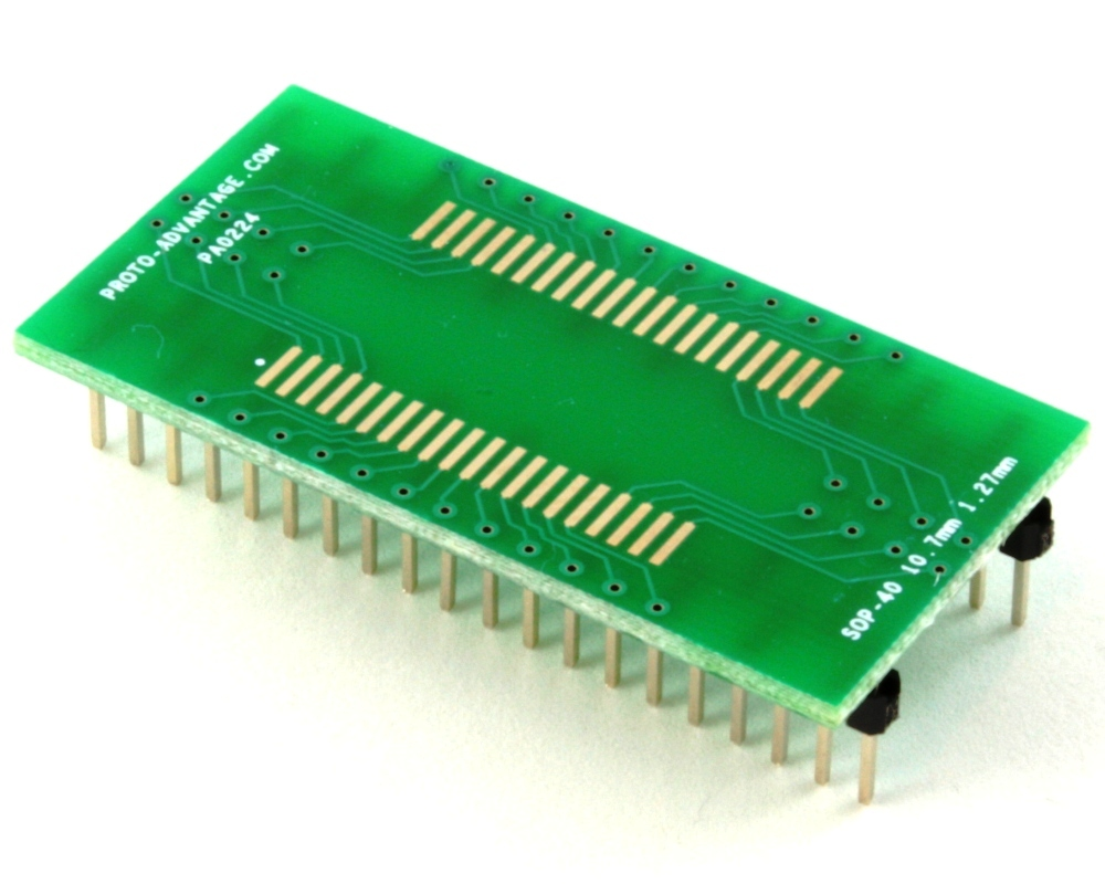 Proto Advantage Sop 40 To Dip Smt Adapter 127 Mm Pitch 107 Small Outline Integrated Circuit Soic And Click Enlarge